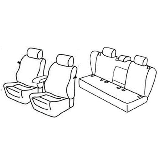 Sedežne prevleke za Volkswagen Golf 5 Sportline