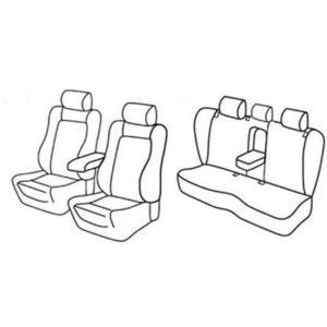 Sedežne prevleke za Volkswagen Passat CC