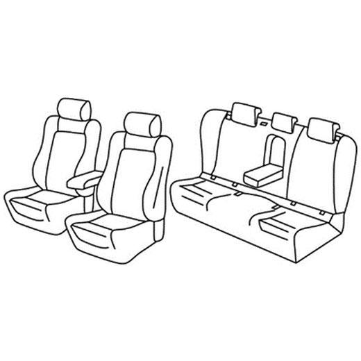 Sedežne prevleke za Volkswagen Passat highline comfortline