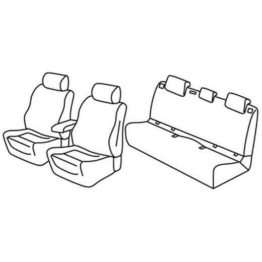 Sedežne prevleke za Volkswagen Polo Trendline Family