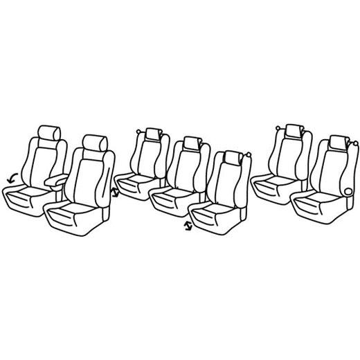 Sedežne prevleke za Volkswagen Sharan 2 Comfortline Highline