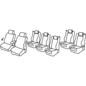 Sedežne prevleke za Sharan 2 Trendline