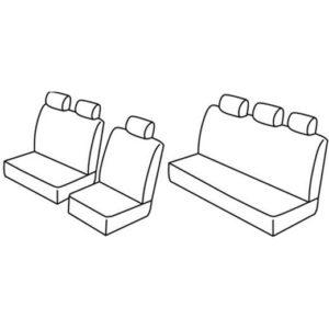 Sedežne prevleke za Volkswagen T4 Double cap