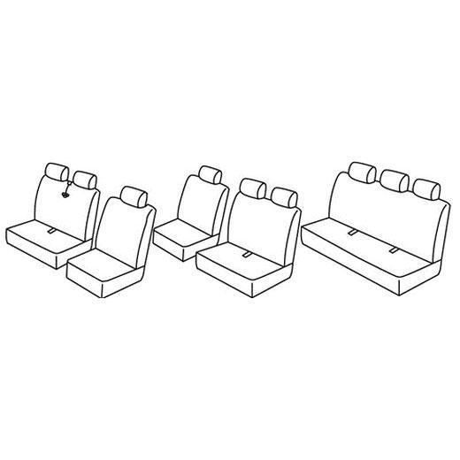 Sedežne prevleke za Transporter T4