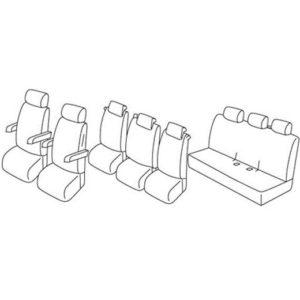 Sedežne prevleke za Volkswagen Transporter T5 T6 Caravelle