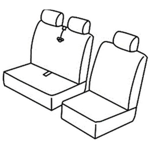Sedežne prevleke za Volkswagen Transporter T5 T6