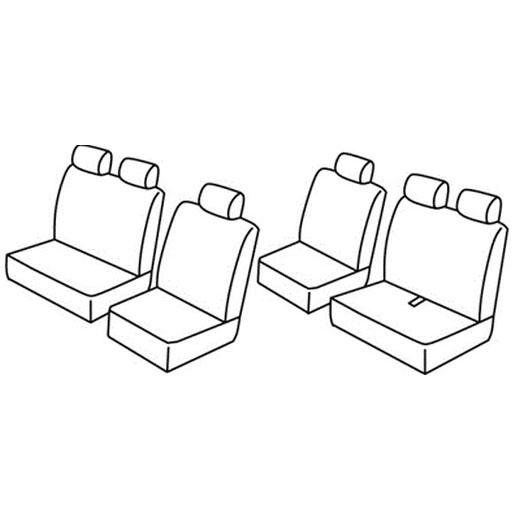 Sedežne prevleke za Volkswagen Transporter T4