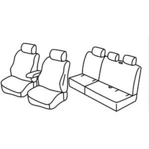 Sedežne prevleke za Volkswagen Caddy