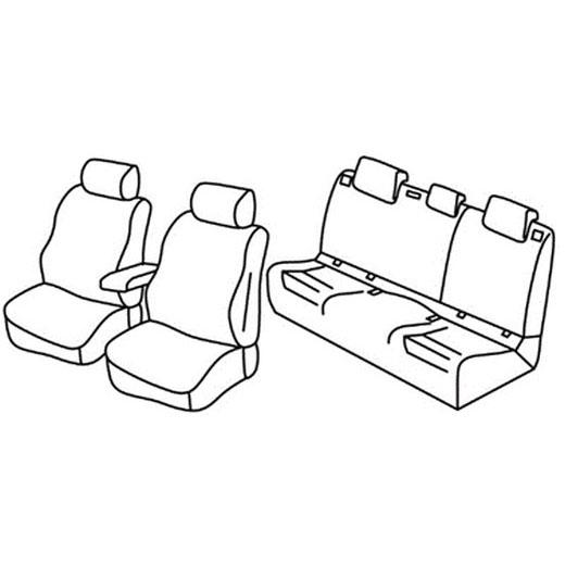 Sedežne prevleke za Volkswagen Golf 7 Trendline