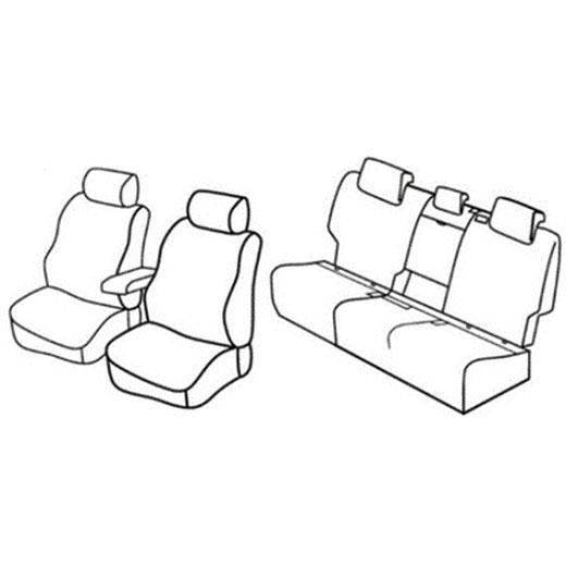 Sedežne prevleke za Volkswagen Golf Sportsvan