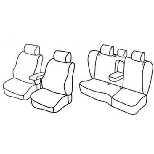 Sedežne prevleke za Volkswagen Passat Variant Trendline