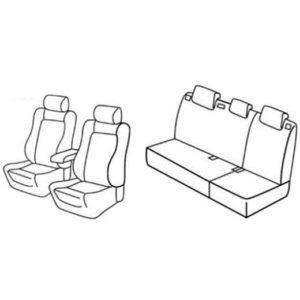 Sedežne prevleke za Volkswagen Polo Fresh Sportline
