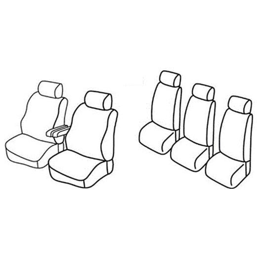 Sedežne prevleke za Volkswagen Sharan