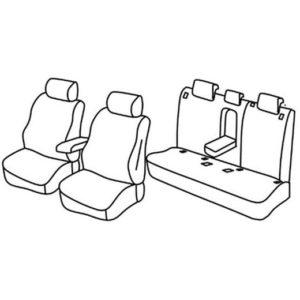 Sedežne prevleke za Volkswagen T-ROC