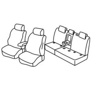 Sedežne prevleke za Volkswagen Tiguan Comfortline