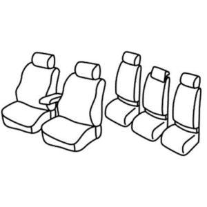Sedežne prevleke za Volkswagen Touran Trendline