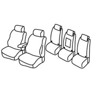 Sedežne prevleke za Volkswagen Touran 2 Comfortline
