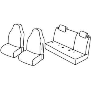 Sedežne prevleke za Volkswagen UP Seat Mii Škoda Citigo