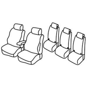 Sedežne prevleke za Volkswagen Touran 2 Trendine