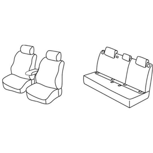 Sedežne prevleke za Volkswagen Passat Trendline