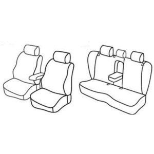 Sedežne prevleke za Volkswagen Passat Comfortline